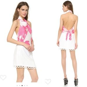 Moschino cheap and chic silk halter dress size 8